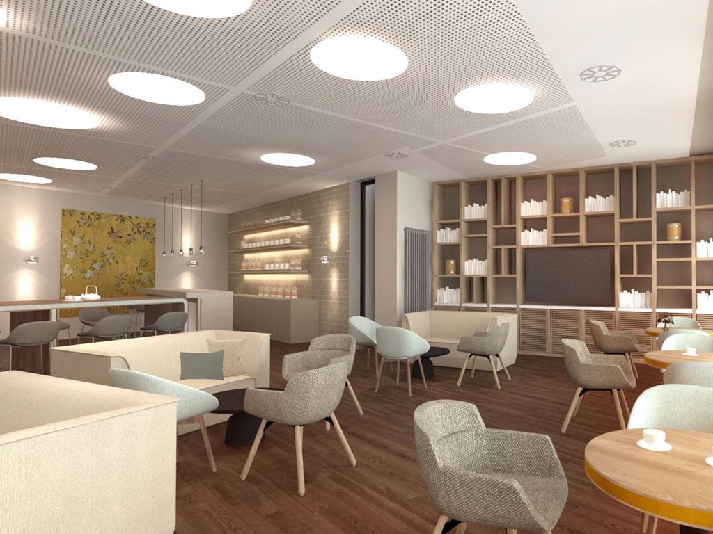 Gastronomie architektur modernisierung von genius loci for Gastronomie architektur