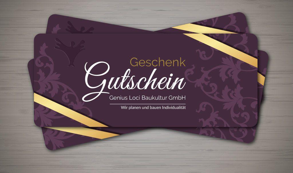 Geschenk Gutschein Innenarchitektur Interior Design