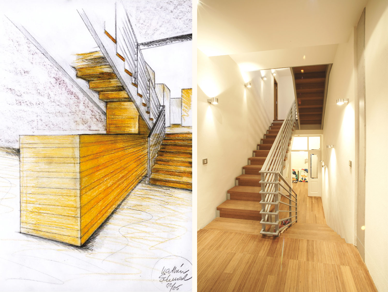 Haus-Umbau Modernisierung Treppenhaus